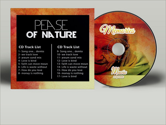 Memory CD Cover Psd Template