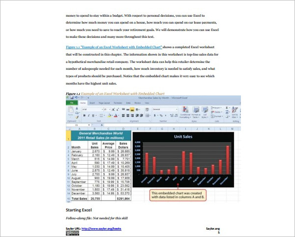Microsoft Excel Template Format