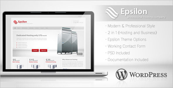 Minimal Hosting WordPress Template