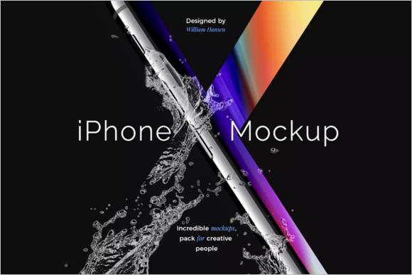 Minimalistic iPhone Mockup Design