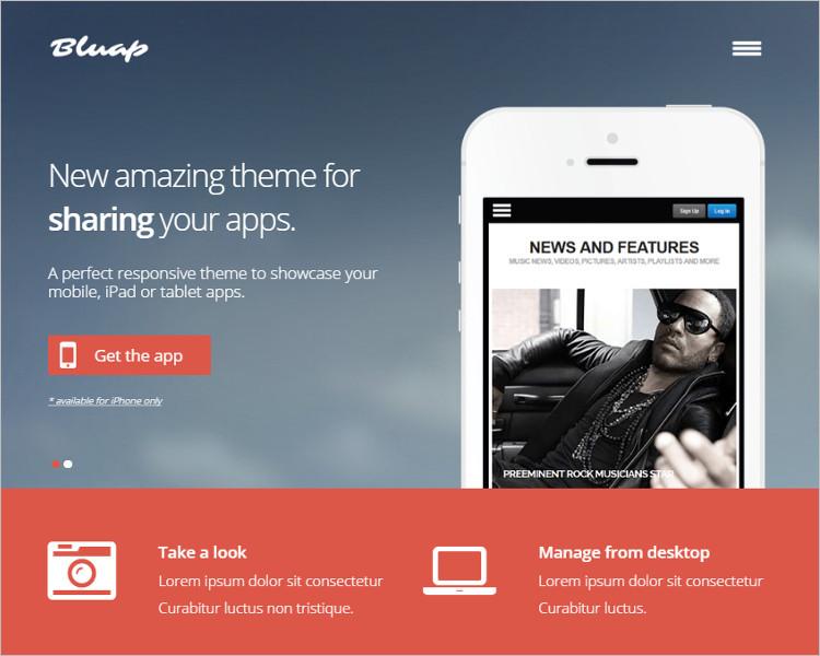 Mobile Application Joomla Template