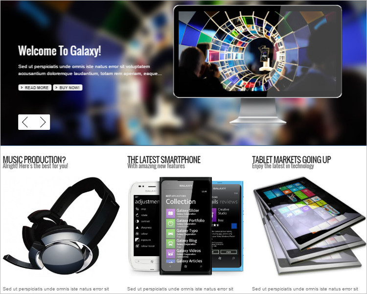 Mobile Business Joomla Template