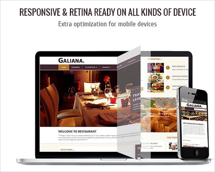 Mobile Device Joomla Template