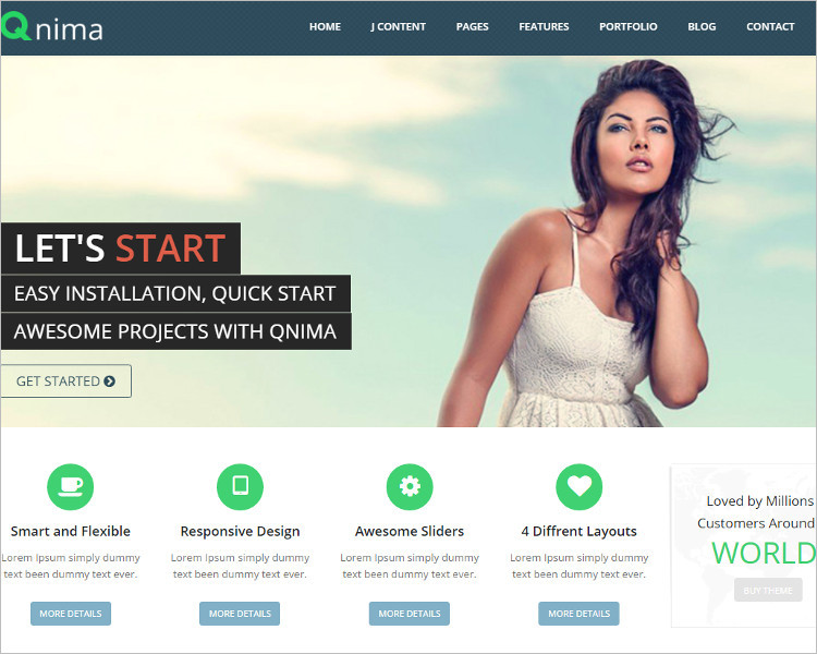 Mobile E-commerce Joomla Template