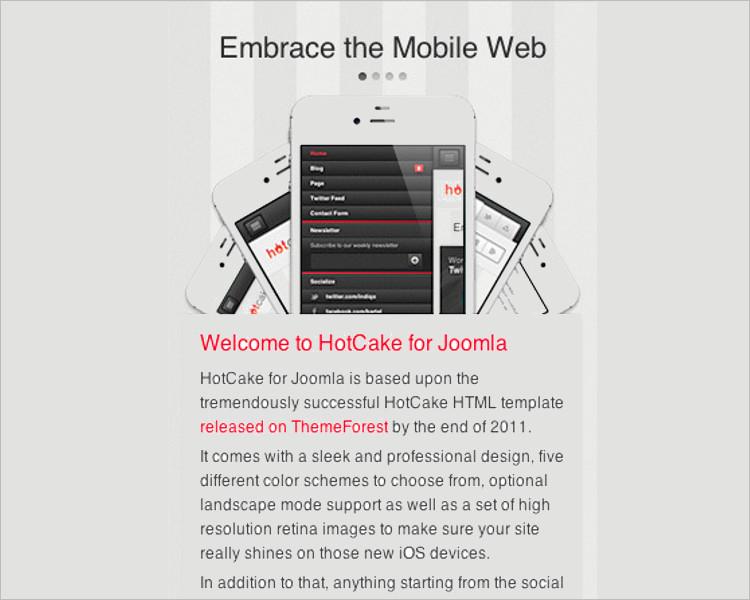 Mobile Version Joomla Template