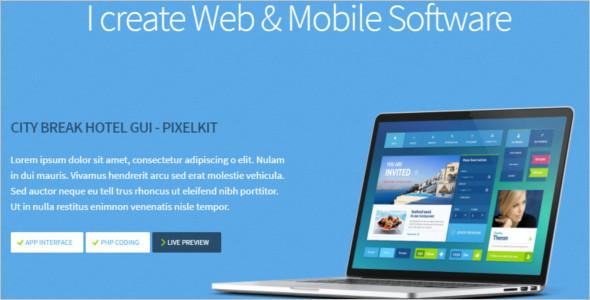 Mobile software WordPress Template