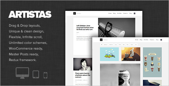 Modern Portfolio WordPress template