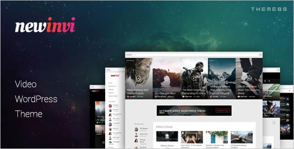Modern Video WordPress Template