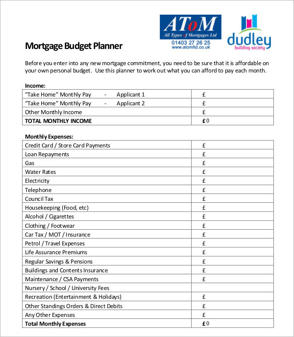Budget Planner Templates - Free Word, Pdf Documents | Creative