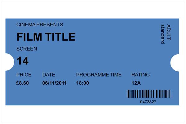 Movie Ticket Template Excel Word