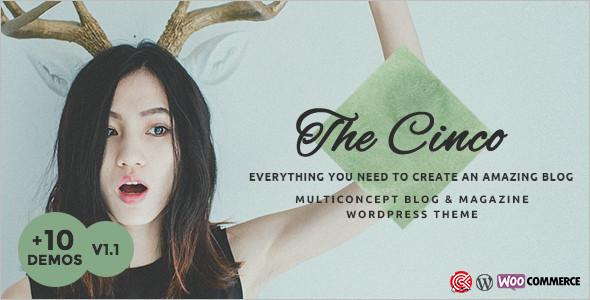 Multi-Concept WordPress Blog Template