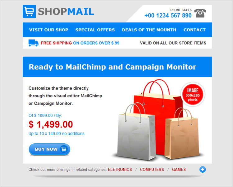 Multipurpose HTML Email Template