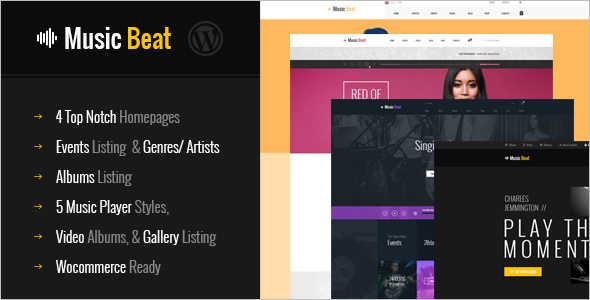 MusicBeat WordPress Template
