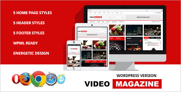 News Video WordPress Template
