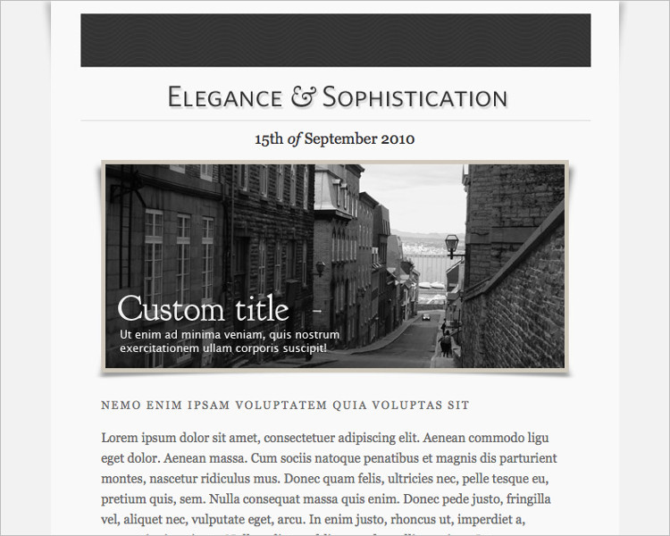 Newsletters HTML Email Template