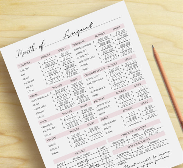 Office Budget Planner Template