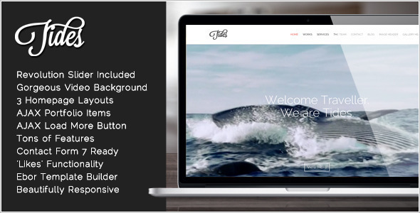 One Page Video WordPress Template