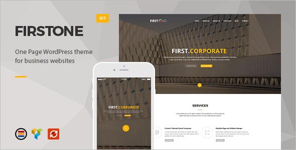 One Page WordPress Platform template