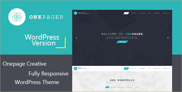 One Page WordPress Version Template