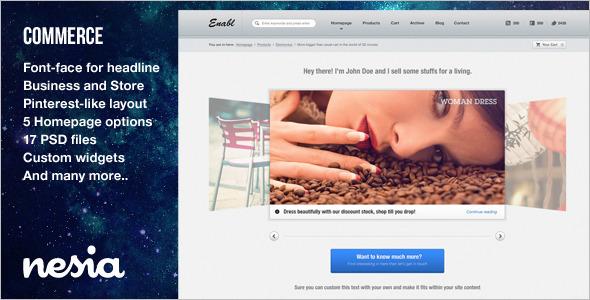 Online Business Store Website template