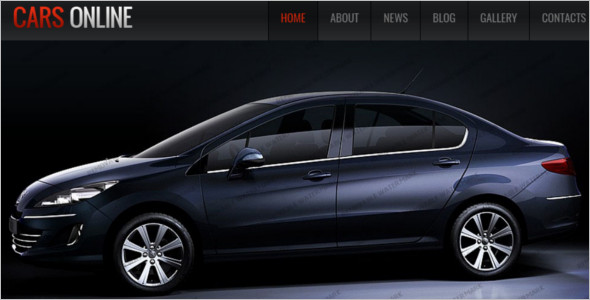 Online Car WordPress Template