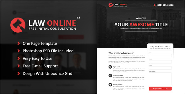 Online Law Consultation Website Template