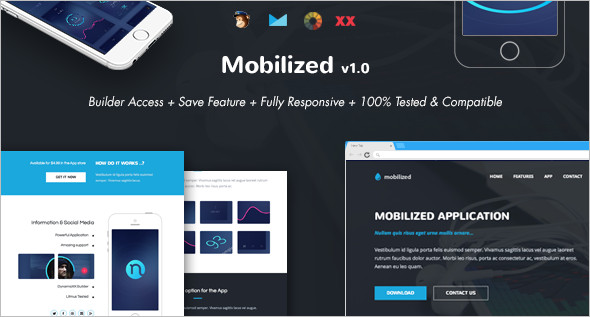 Online Mobilized Website Template