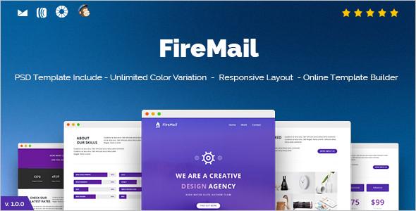 Online Outlook Website template