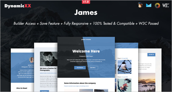 Online Photography Website Template