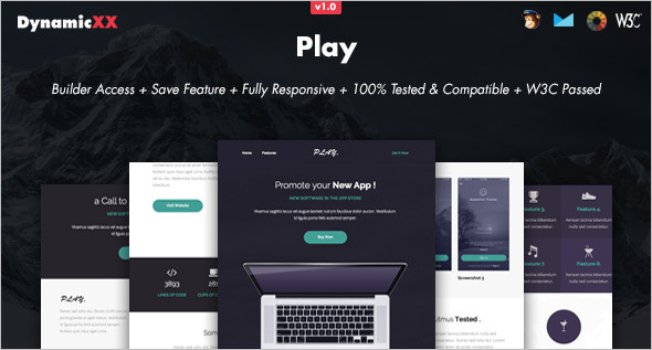 Online Play Store Website Template
