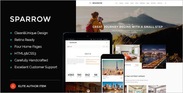 Online Tourism Website Template