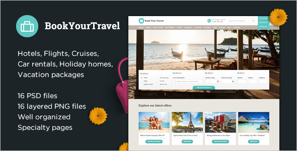 Online Travel Booking Website Template