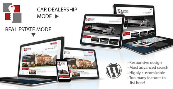 OpenDoor Dealership WordPress Template
