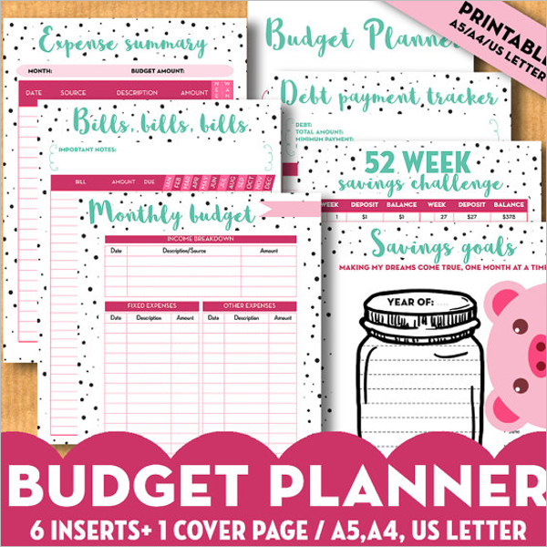 Pack Of Budget Planner Template