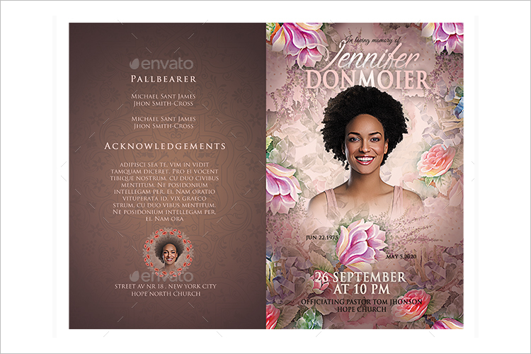 Pack-Of-Funeral-Program-Templates Sample Business Newsletter Templates on
