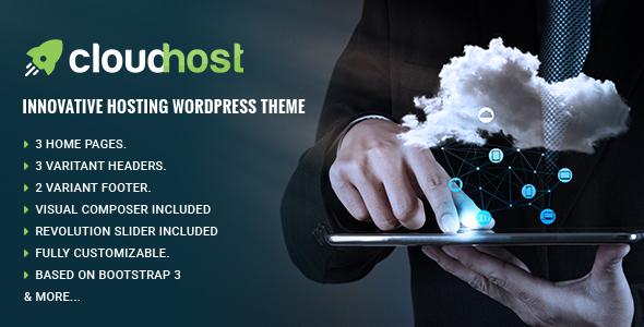 Page Builder Hosting WordPress Template