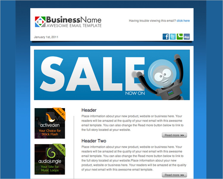 Paper Business HTML Email Template