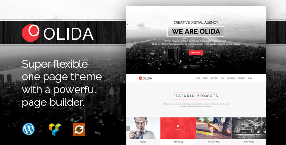 Parallax One Page WordPress Template