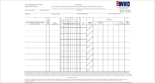 Payroll Templates Spreadsheet Template