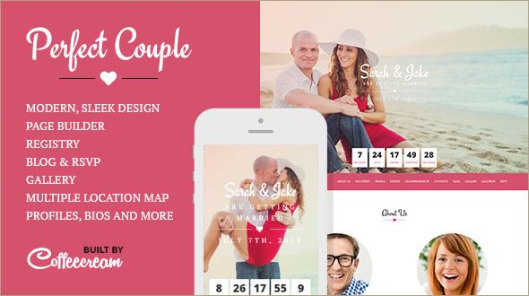 Perfect Wedding WordPress Template