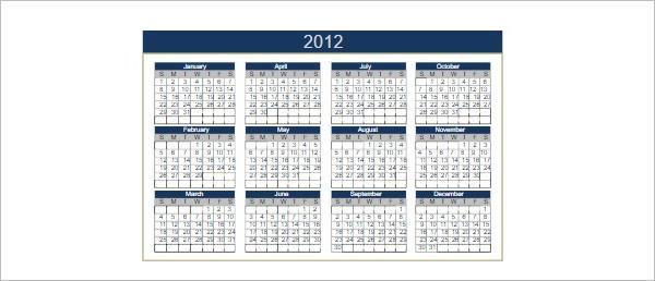 Perpetual Calendar Template PDF Word