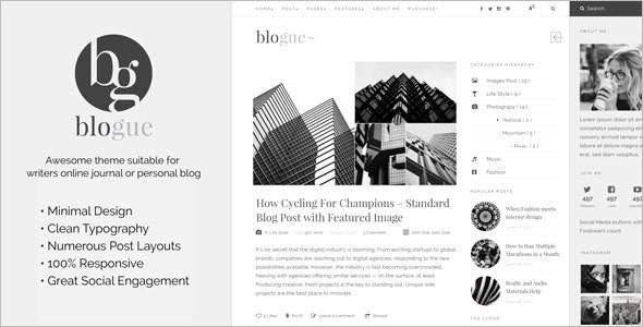 Personal Blog WordPress Template