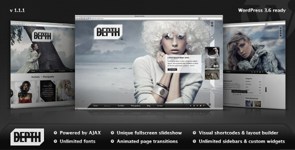 Personal Full-Screen Website Template