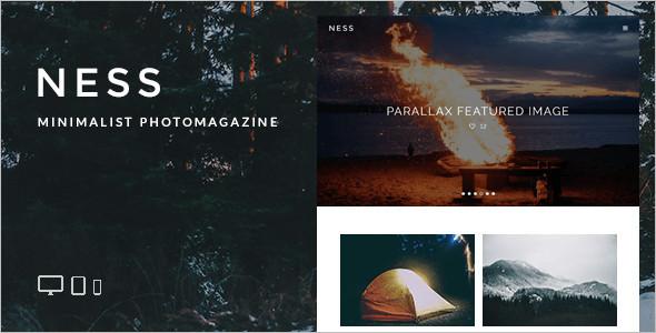 Personal Photo Blog WordPress Template