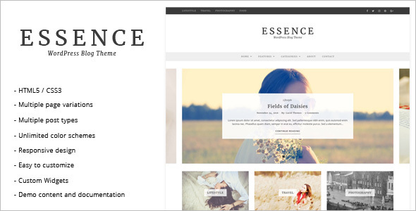 Photography WordPress Blog Template
