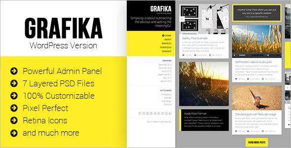 Picture Blog Website Template