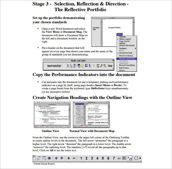 Portfolio Microsoft Excel Template PDF