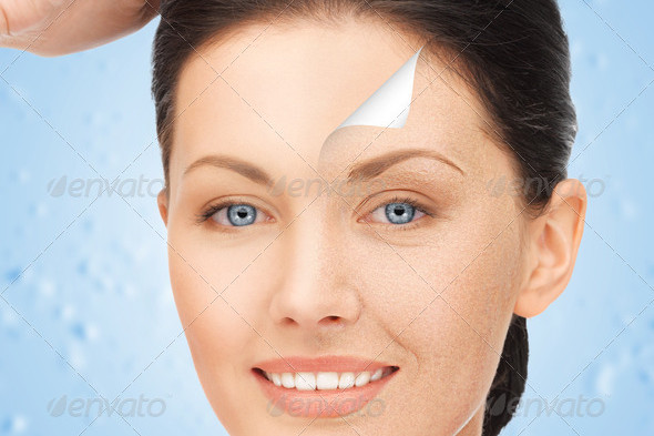 Portrait Picture of Beautiful Woman for Cosmetic Design
