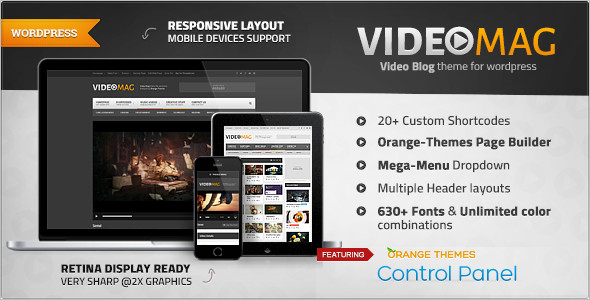 Powerful Video WordPress Template