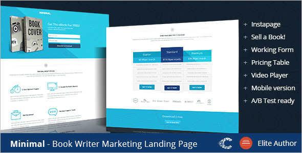Premium Ebook Landingpage Template